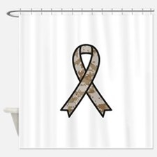 Military Support Ribbon Shower Curtain