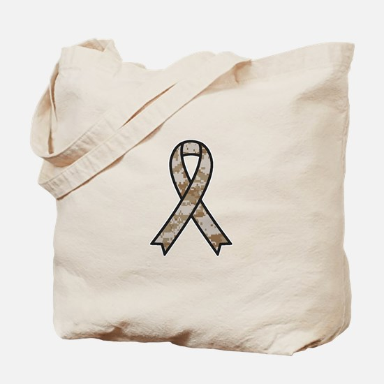 Military Support Ribbon Tote Bag