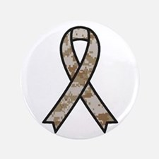"Military Support Ribbon 3.5"" Button"