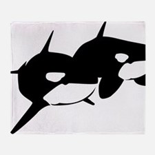 Orca, Killer Whale Couple Throw Blanket