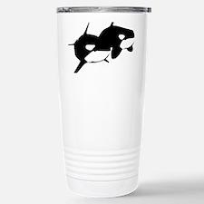 Orca, Killer Whale Couple Travel Mug