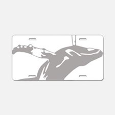 Leaping HumpBack Whale Aluminum License Plate