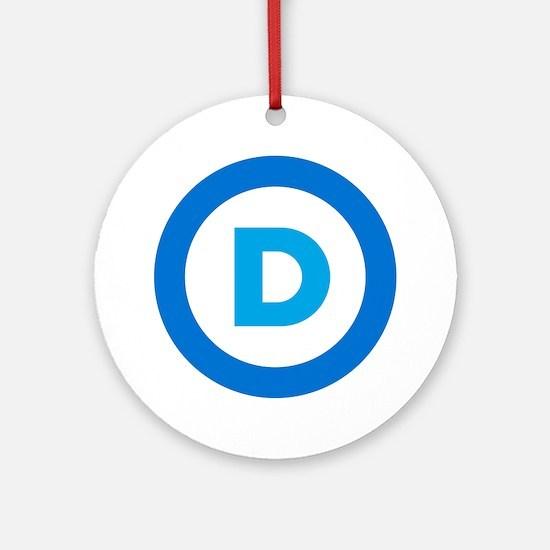 Democratic Round Ornament