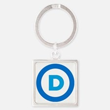 Democratic Square Keychain