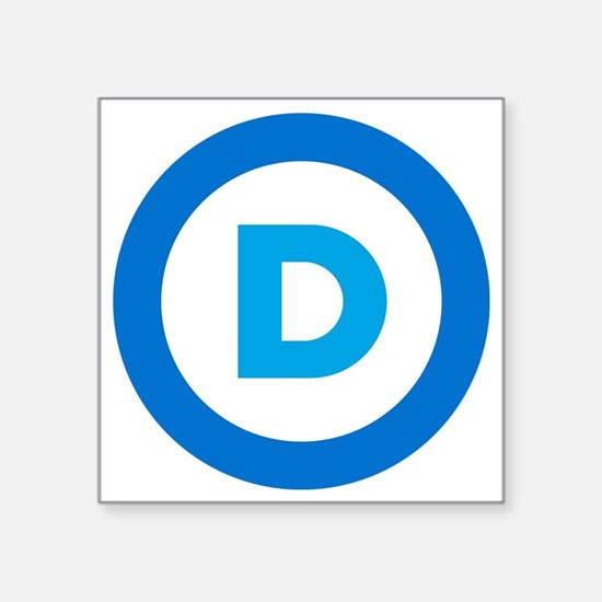 "Democratic Square Sticker 3"" x 3"""