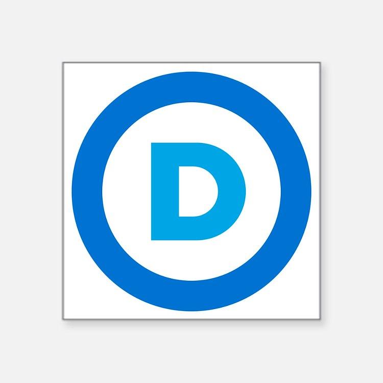"""Democratic Square Sticker 3"""" x 3"""""""