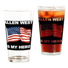 ALLEN WEST FLAGBUTTON Drinking Glass