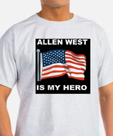 ALLEN WEST FLAGBUTTON T-Shirt