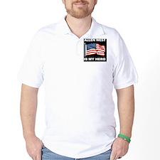 ALLEN WEST FLAGBUTTON T-Shirt