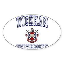 WICKHAM University Oval Decal