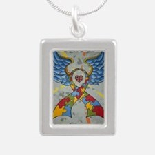 Hope - Keeps the pieces  Silver Portrait Necklace