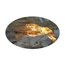 Pictured Rocks B Oval Car Magnet