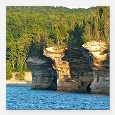"""Pictured Rocks A Square Car Magnet 3"""" x 3"""""""