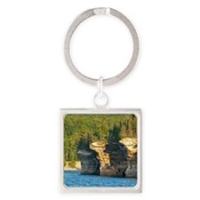 Pictured Rocks A Square Keychain