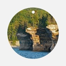 Pictured Rocks A Round Ornament
