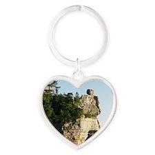 Pictured Rocks C Heart Keychain