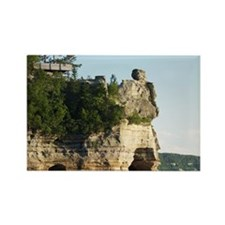 Pictured Rocks C Rectangle Magnet