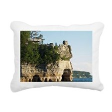 Pictured Rocks C Rectangular Canvas Pillow