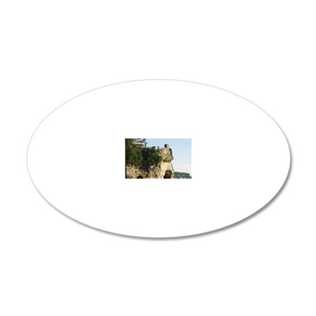 Pictured Rocks C 20x12 Oval Wall Decal