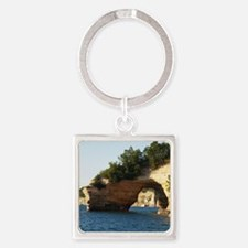 Pictured Rocks Square Keychain