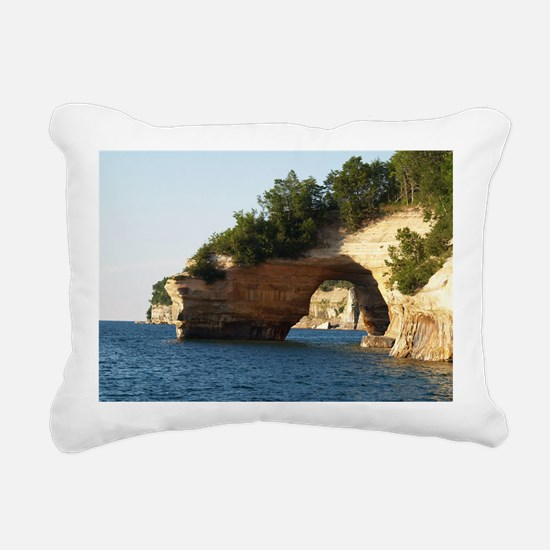 Pictured Rocks Rectangular Canvas Pillow