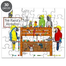 The Parrot's Workshop Logo Puzzle