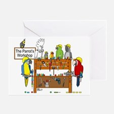 The Parrot's Workshop Logo Greeting Card