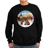 Bloodhound christmas Sweatshirt (dark)