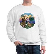 St Francis and Belgian Malinois Sweatshirt