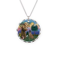 St Francis and Belgian Malin Necklace