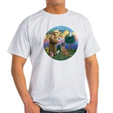 St Francis and Belgian Malinois T-Shirt