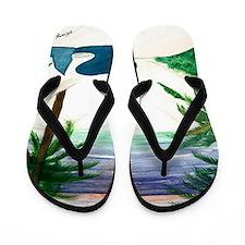 Blond Mermaid Flip Flops