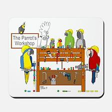The Parrot's Workshop Logo Mousepad