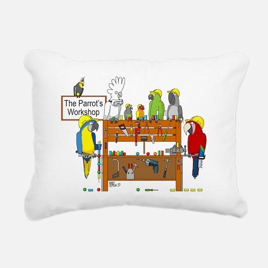 The Parrot's Workshop Lo Rectangular Canvas Pillow