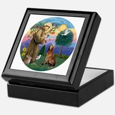 St. Francis - Bloodhound Keepsake Box