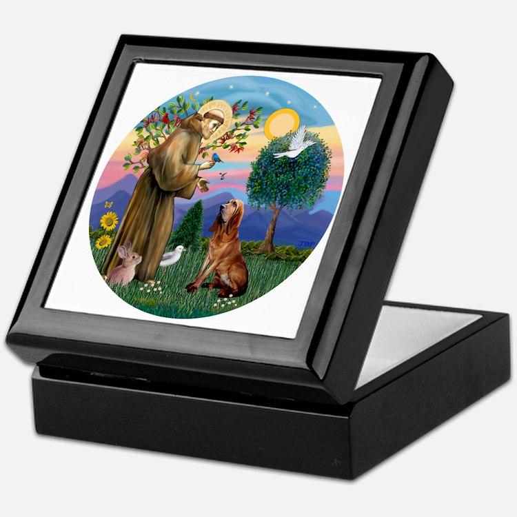 St. Francis - Bloodhound Keepsake Box