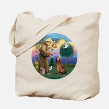 St. Francis - Bloodhound Tote Bag