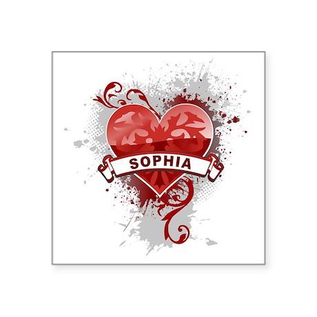 "Love Sophia Square Sticker 3"" x 3"""