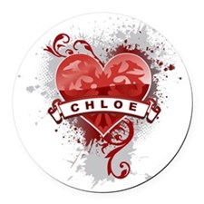 Love Chloe Round Car Magnet