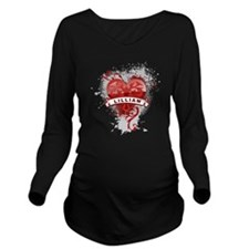 Love Lillian Long Sleeve Maternity T-Shirt