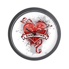 Love Samantha Wall Clock