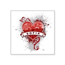 "Love Sofia Square Sticker 3"" x 3"""