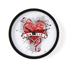 Love Natalie Wall Clock