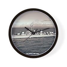 uss owen framed panel print Wall Clock