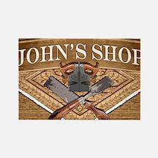 Johns Shop Rectangle Magnet