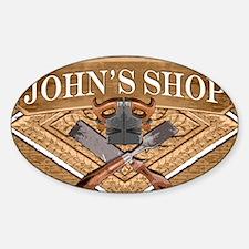 Johns Shop Sticker (Oval)