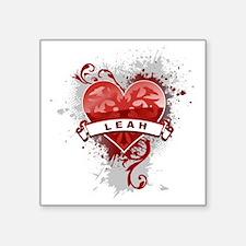 "Love Leah Square Sticker 3"" x 3"""