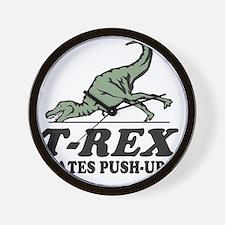 T-REX Hates Pushups Wall Clock