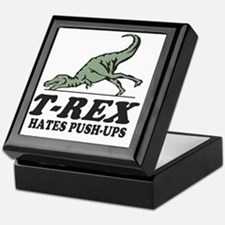 T-REX Hates Pushups Keepsake Box