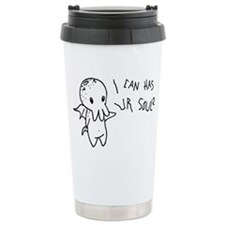 Cthulhu Can Has Ur Soul? Travel Mug